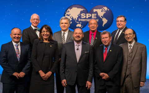 awardees at the annual awards banquet during the 2018 SPE Annual Tech Conference